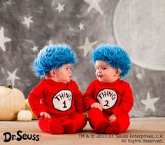 Dr. Seuss's™ Thing 1 and Thing 2 Baby Costume by potterybarnkids #Halloween #Kids #Costume #Dr_Seuss