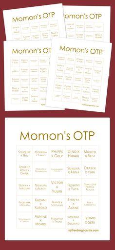 Momon's OTP Bingo
