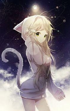 Most Kawaii Cat Girl Anime Amino Anime Neko, Anime Kawaii, Kawaii Cat, Pretty Anime Girl, Beautiful Anime Girl, I Love Anime, Anime Girls, Manga Girl, Art Manga