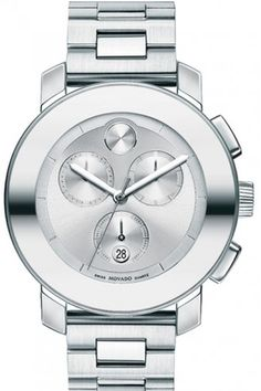 10 Of-The-Minute Boyfriend Watches #refinery29  http://www.refinery29.com/trendy-boyfriend-watches#slide8  Not every wrist goes for gold. Silver-sporting wrists will look good with this watch solo, or among friends.    Movado Bold, $750, available at Movado.