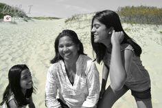 Moeder en dochters op de foto