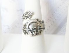 Spoon Ring  The ORIGINAL Adjustable Silver Celtic by birdzNbeez