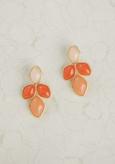 Pink Peach Earrings