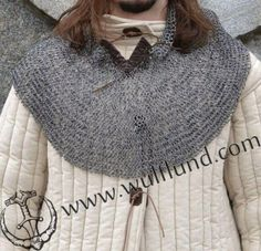 Chain-mail collars to protect shoulders and neck