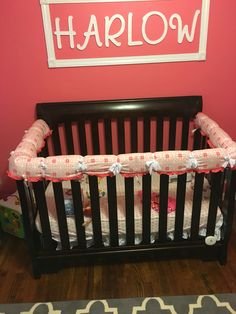 Used Crib Bumper Padding As Rail Cover For Teething Baby