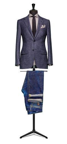 Blue jacket Faux uni slightly brushed S100 http://www.tailormadelondon.com/shop/tailored-jacket-fabric-7813-plain-blue/