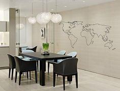 Welt Karte Outline Aufkleber große Weltkarte von DecalsAffordable
