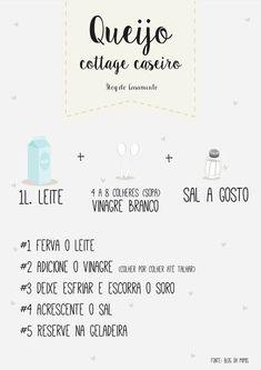 Receita: Queijo Cottage caseirohttp://www.blogdocasamento.com.br/receita-queijo-cottage-caseiro/