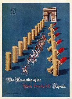 "Gloria Vanderbilt 1946 ""The Coronation Lipstick"""