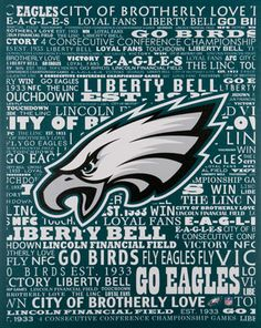 Show off your knowledge of #Eagles history. Typographies Canvas Art $29.99