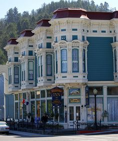 In California, along the coast, if you like Victorian architecture, Ferndale has some of the best eye candy around ...