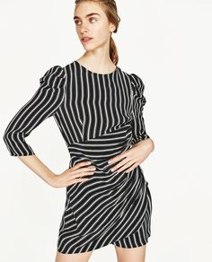 Image 2 of FLOWING STRIPED DRESS from Zara