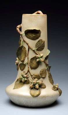 Weller Pottery Woodcraft Bud Vase 10-1/2 Inches Tall Durable In Use Weller
