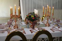 Decor by Em'ganwini Kraal Wedding Decorations, Table Settings, Candles, Wedding Decor, Place Settings, Candy, Candle Sticks, Tablescapes, Candle
