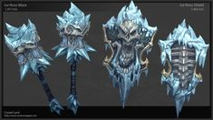 Weapons for Darksiders 2, Crystel Land on ArtStation at http://www.artstation.com/artwork/weapons-for-darksiders-2