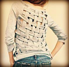 DIY-weaved shirts diy