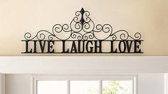 Scrolling Live Laugh Love Metal Wall Art