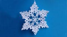 crochet snowflake - YouTube