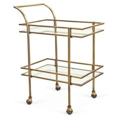 Check out this item at One Kings Lane! Genevive Bar Cart, Gold