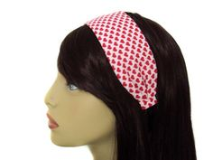 Red  White Pin Up Retro Hearts 2 Wide Headband * Continue to the product at the image link.(This is an Amazon affiliate link and I receive a commission for the sales)