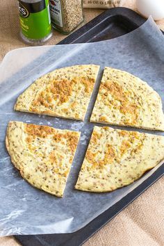 3 Ingredient Paleo Pizza Bases which have NO cauliflower and are made stovetop - chock full of protein, gluten free and friendly Paleo Pizza, Paleo Bread, Low Carb Bread, Healthy Pizza, Gluten Free Recipes, Low Carb Recipes, Cooking Recipes, Healthy Recipes, Pizza Recipes