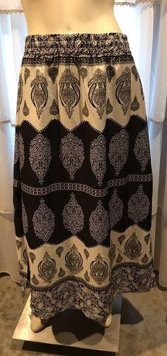 Soft Surroundings Maxi Skirt Size Medium  | eBay