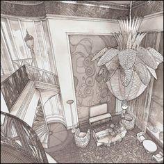 FABERGROUP www.faberfm.com (Art-Deco) Sketch of the living room