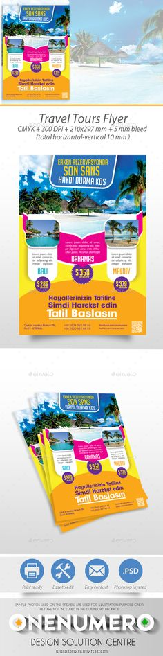 Travel Tours Flyer - Holidays Events