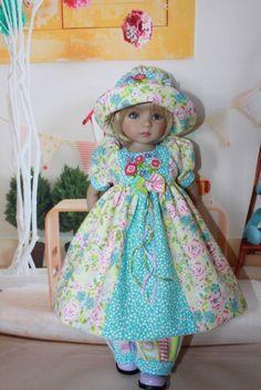 """Dianna Effner's 13"""" Little Darlings """"SPRING JUBILEE"""" Dress Ensemble #DiannaEffner"""