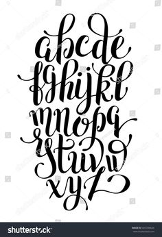 black and white hand lettering alphabet design, handwritten brush script modern calligraphy cursive font vector illustration - buy this stock vector on Shutterstock & find other images. Alphabet Design, Fonte Alphabet, Font Styles Alphabet, Alphabet Images, Handwriting Alphabet, Hand Lettering Alphabet, Calligraphy Handwriting, Modern Calligraphy Alphabet, Calligraphy Letters Alphabet