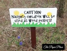 Genial Naughty Children Wood Garden Sign, Weed Pickers Garden Sign, Weatherpoof  Outdoor Funny Garden Sign