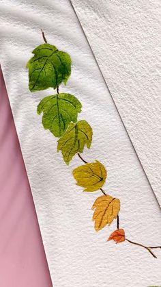 Watercolor Landscape Paintings, Watercolor Drawing, Watercolor Illustration, Floral Watercolor, Poster Color Painting, Watercolor Bookmarks, Diy Canvas Art, Art Tutorials, Flower Art