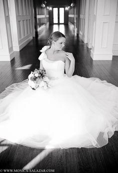 Denton bridal portraits, The Milestone, indoor bridal portrait ideas, black and white image, #wedding, #bridals, #themilestone, #maggiesottero, http://www.monica-salazar.com