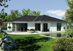 Bungalow bauen l form  Hausansicht Elbe-Haus® Bungalow 3-125-U | toskana Häuser ...