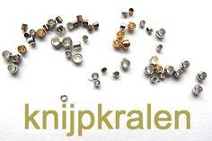 Juwelen : MAAK HET ZELF : materiaal : knijpkralen en knijpkraalverbergers en hoe ze te gebruiken...