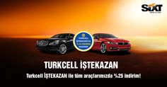 Turkcell kurumsal hat sahiplerine Sixt rent a car'da günlük araç kiralamada %25 indirim kazanıyor! Kampanya Detayları için 444 00 76, www.sixt.com.tr veya Sixt rent a car ofislerinde indirimlerden yararlanabilirsiniz.