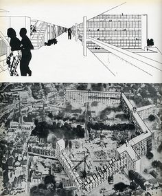 Collage by Alison and Peter Smithson, Casabella - Hair Styles Architecture Collage, Architecture Tattoo, Facade Architecture, Concept Architecture, Le Corbusier, Photomontage, Alison And Peter Smithson, Architecture Drawing Sketchbooks, Arcology