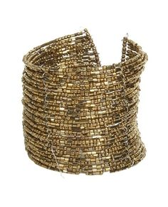 Wide Seed Bead Cuff - Teen Clothing by Wet Seal - StyleSays