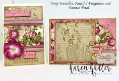 These two Stamp Sets Fanciful Fragrance and Very Versailles go together perfectly and was two of the sets on the very top of my list :-) They are perfect for making those old fashioned vintage type cards. I have combined them with the Pressed Petals Desig Vintage Type, Vintage Cards, Stampin Up Catalog, Stamp Sets, Stamping Up, Flower Cards, Versailles, Stampin Up Cards, Card Ideas