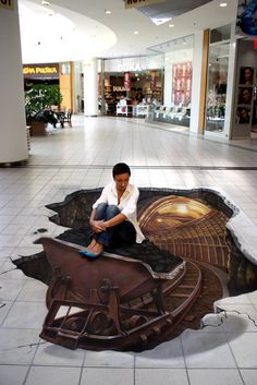 art art by manfred stader pavement art Chalk Art / Street Art Amazing street art Amazing Street Art, 3d Street Art, Street Art Graffiti, Amazing Art, 3d Sidewalk Art, 3d Street Painting, 3d Painting, Illusion Kunst, Pavement Art