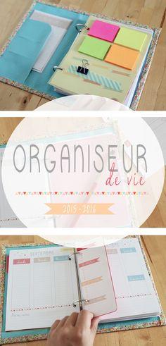 ORGANISEUR DE VIE - Agenda, fiches personnalisables, to do list, semainier ...
