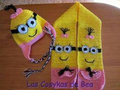 Resultado de imagen para bufandas tejidas de minions