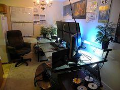 dream office - Computer Specs  - Intel Core 2 Quad Q6600  - 8GB RAM  - 3x ATI Radeon HD4670 GPUs  - 6x Asus VE245TL-P 24? Displays  - 3x MonoPrice Dual Desk Mounts    Server  - Core 2 Quad  - 12TB Storage  - 8GB RAM  - Vizio 26? HDTV