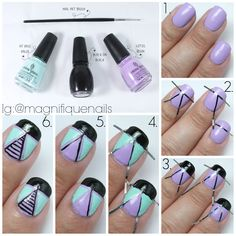 Geometric Nails Tutorial