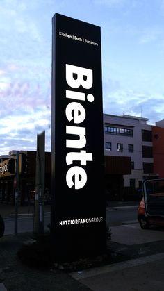 biente - outdoor signage, etalbond face www.akida.gr