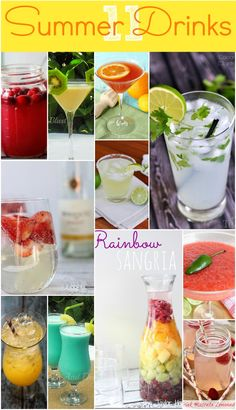 11 awesome summer drink recipes!!