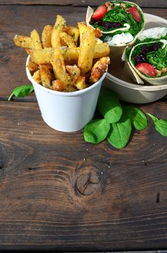 Homemade more, worry less Homemade Fries, Homemade Food, Hand Cut Fries, Wild Garlic, Homemade Dressing, Photo And Video, Vegetables, Instagram, Homemade French Fries
