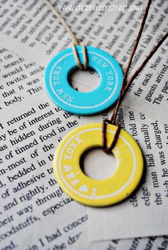 DIY Painted Washer Necklaces at www.thebensonstreet.com