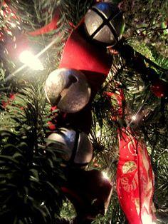 Vintage Jingle Bells Used as Christmas Ornaments - Harris Sisters GirlTalk