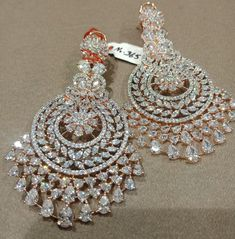 Source by shakeel_fazal Jewelry Diamond Earrings Indian, Indian Jewelry Earrings, Indian Jewelry Sets, Jewelry Design Earrings, Gold Earrings Designs, Ear Jewelry, Bridal Jewelry Sets, Wedding Jewelry, Bridal Jewellery
